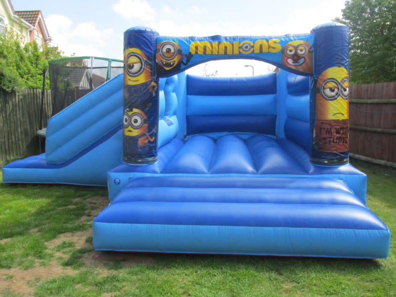 Minons themed inflatable citadel hire in Peterborough and Spalding