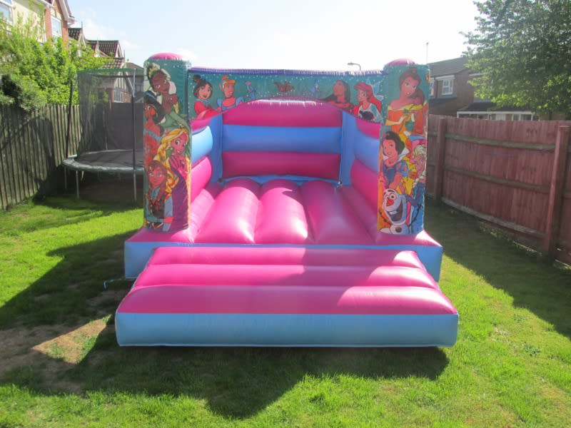 Pretty Pink Princess Bouncy Castle hire In Spalding and Peterborough