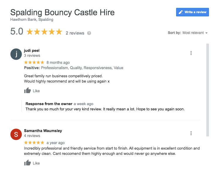 Spalding Bouncy Castle Hire - A Google 5* Rated Company
