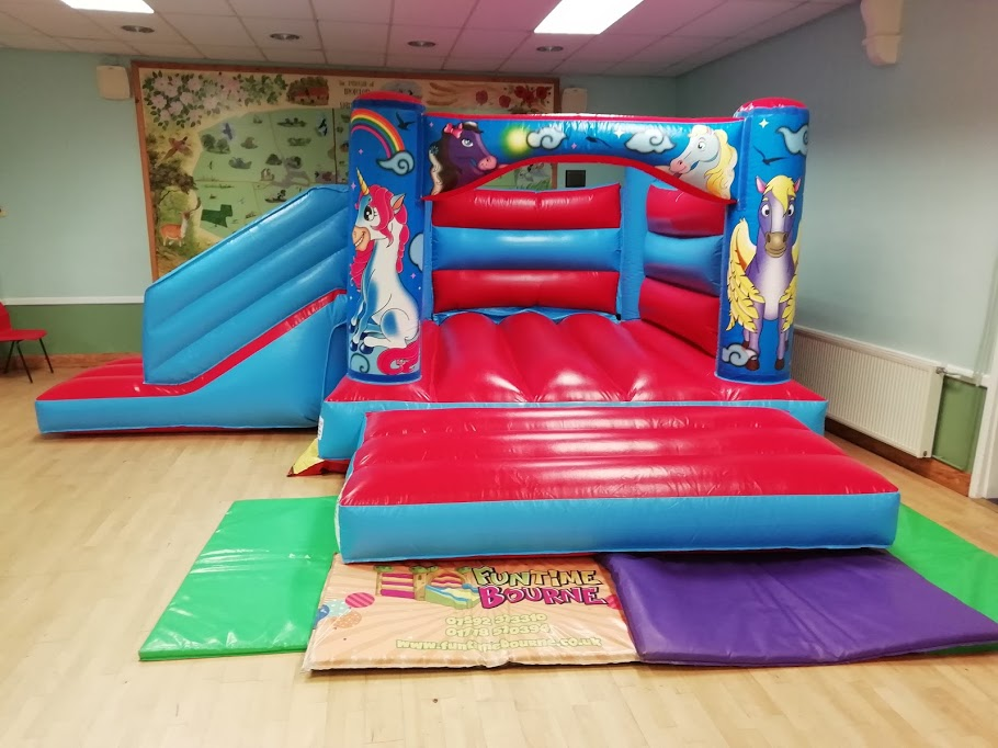 Unicorn bouncy castle hire in Spalding Lincolnshire