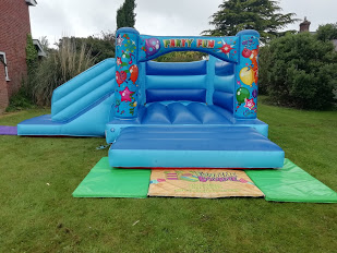 Balloon themed bouncy castle hire in Spalding and Peterborough